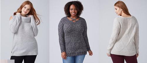 Lane bryant sweaters