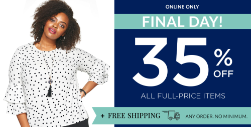 Christopher and banks 35% off free shipping
