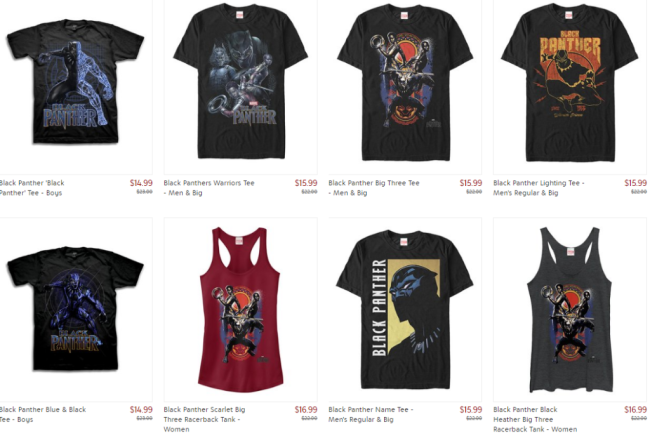 Black Panther Tees, Tanks, Posters, Action Figures & More