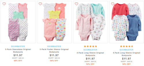 Carter's bodysuits on sale.