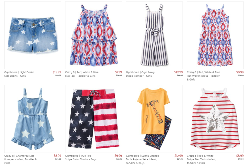 Gymboree and crazy 8 at zulily
