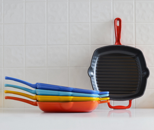 Cook's Essentials Square Cast-Iron Gril lPan
