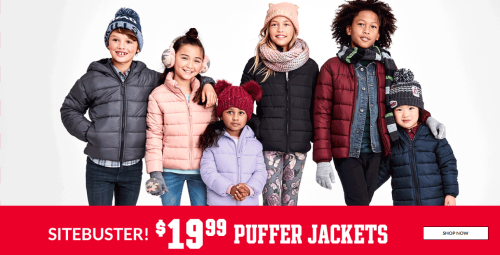 Children's place puffer jackets