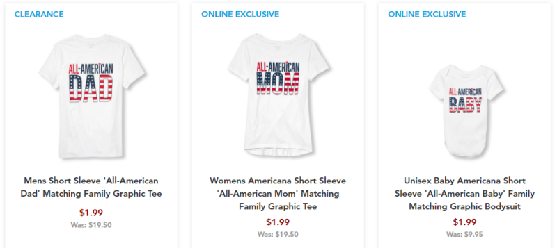 Children's place all american tees