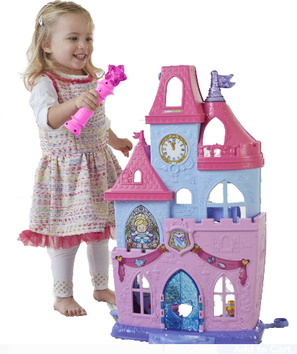 Fisher price disney princess little people magical wand palace