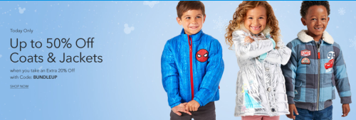 Disney store 50% off coats and jackets