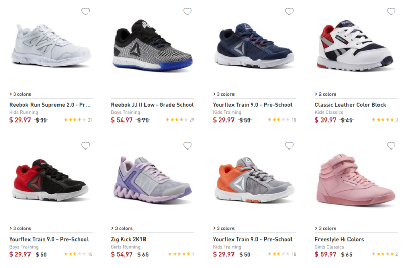 Reebok kids shoes on sale