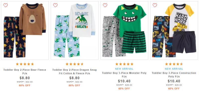 Carter's toddler boy pajamas