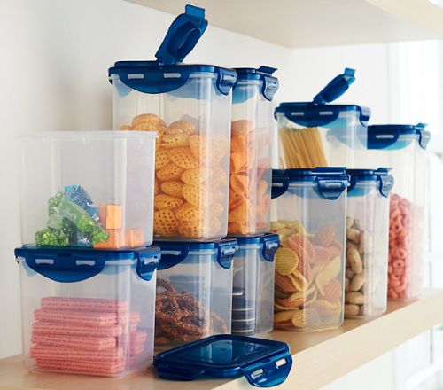 Lock and lock 10 piece pantry and refrigerator storage set