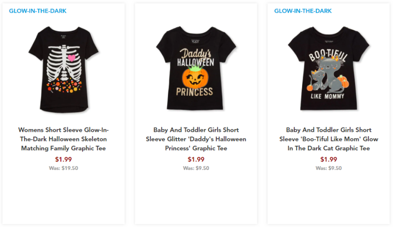 Children's place halloween tees