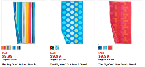 Kohls big one beach towels