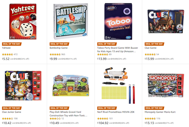 Hasbro Toys & Games on Sale - Fortnite Monopoly $9.99 + More