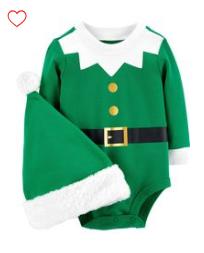 Carter's 2 piece elf bodysuit and hat
