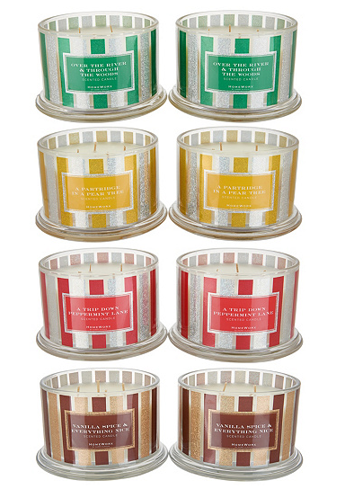 HomeWorx by Harry Slatkin Set of 2 4-Wick Candles
