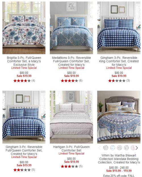3 piece comforter sets