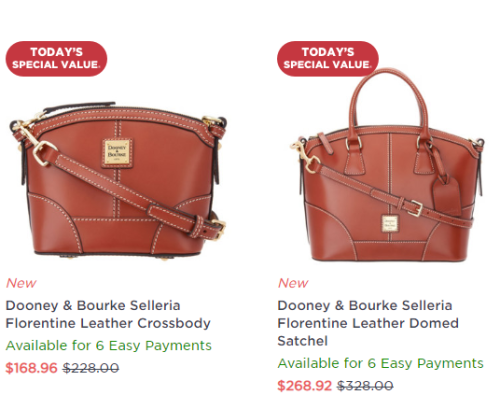 Dooney & Bourke Selleria Florentine Leather Domed Satchel or Crossbody