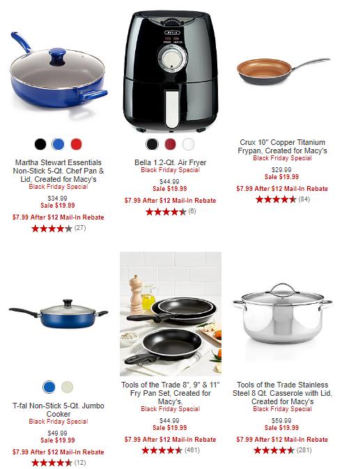 Macy's black friday $7.99 appliances