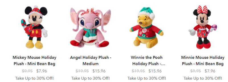 Disney holiday plush
