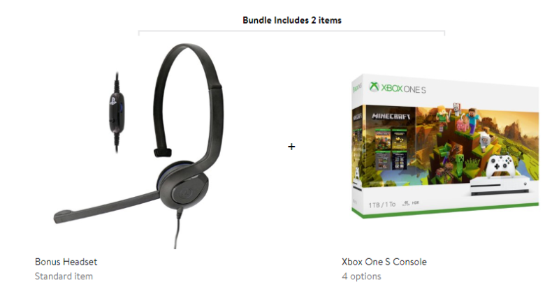 Xbox One S Console with Bonus Chat headset (Cyber Monday Special)