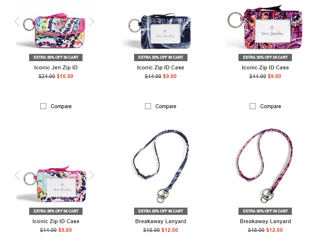 Vera bradley zip id cases and lanyards