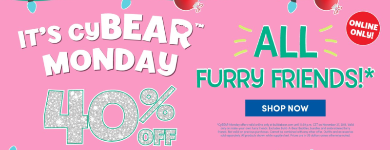 Build a bear cyber monday