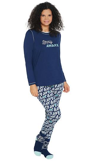 Cuddl duds cozy jersey pajamas