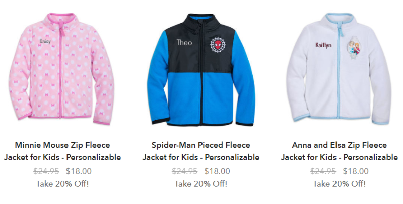 Disney personalized jackets