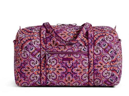 Vera bradley iconic large travel duffel