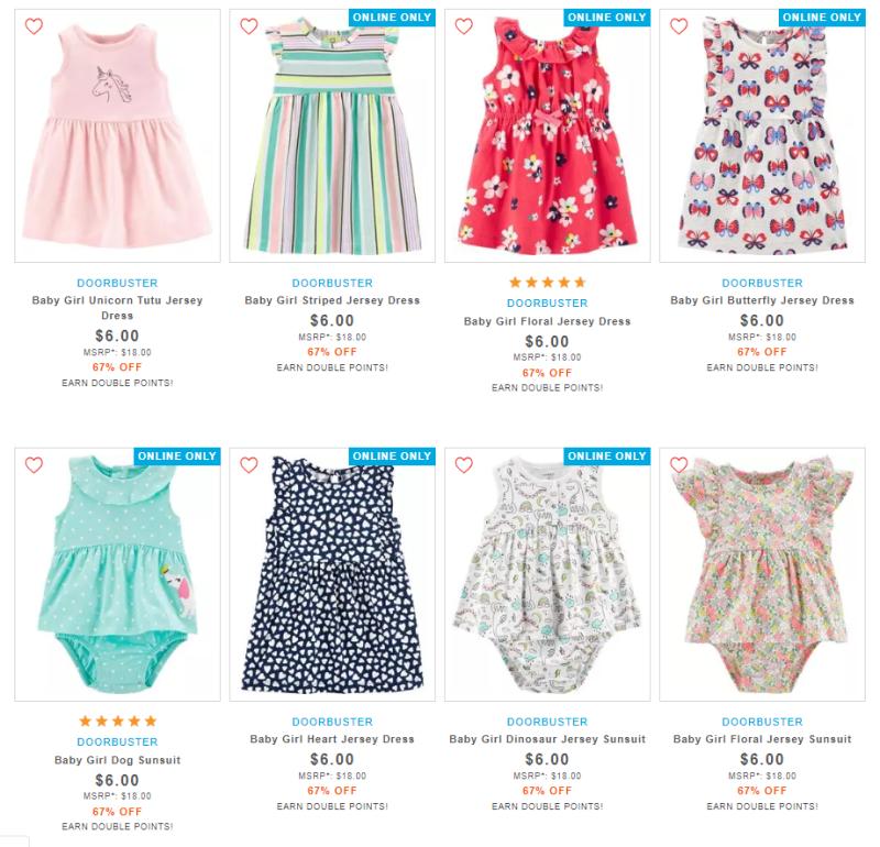 Carter's $6 dresses