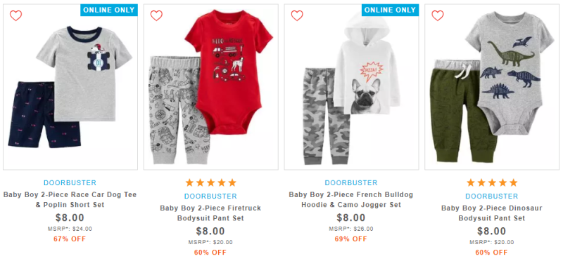 Carter's 2 piece sets boys