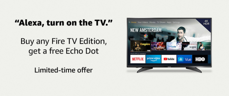 Amazon fire tv free echo