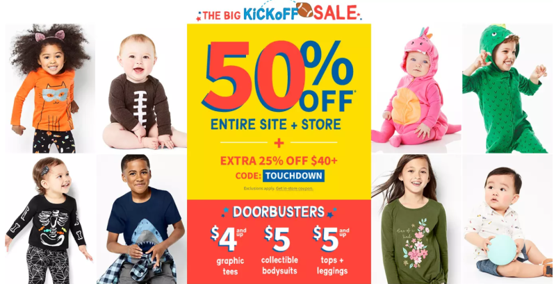 Carter's kick off sale