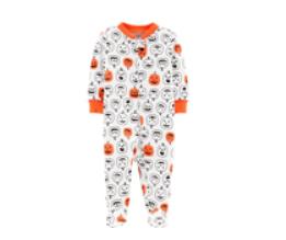 Carter's jacko lantern pajamas
