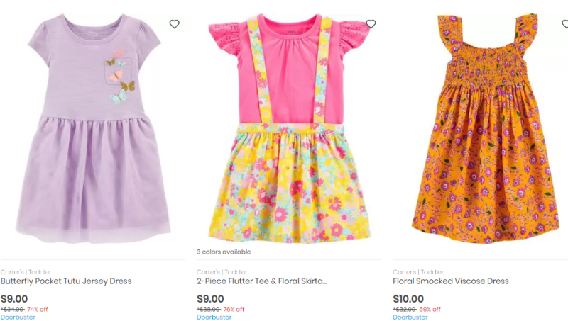 Carter's doorbuster $9 dresses