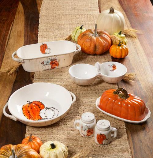 Harvest pumpkin tabletop collection